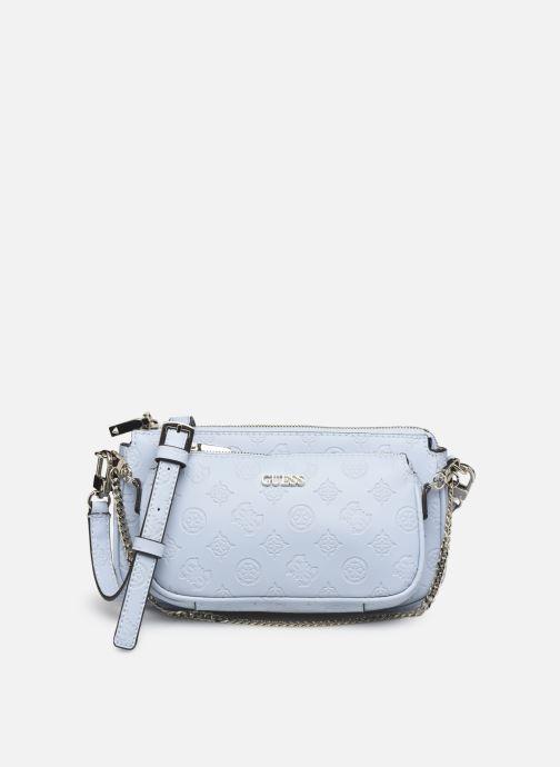 Handtaschen Guess DAYANE DOUBLE POUCH CROSSBODY blau detaillierte ansicht/modell