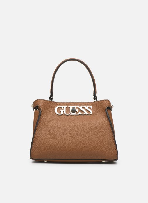 Handtaschen Guess UPTOWN CHIC SML TRNLCK SATCHEL braun detaillierte ansicht/modell