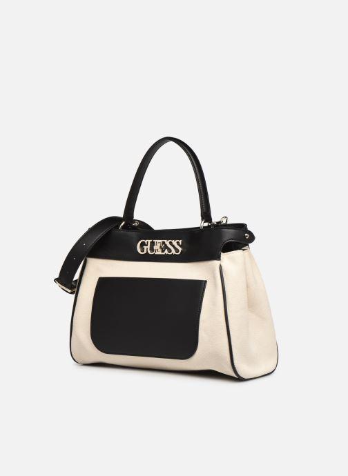 Handtaschen Guess UPTOWN CHIC LRG TRNLCK SATCHEL schwarz schuhe getragen
