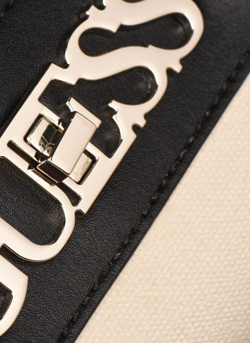 Handtaschen Guess UPTOWN CHIC LRG TRNLCK SATCHEL schwarz ansicht von links
