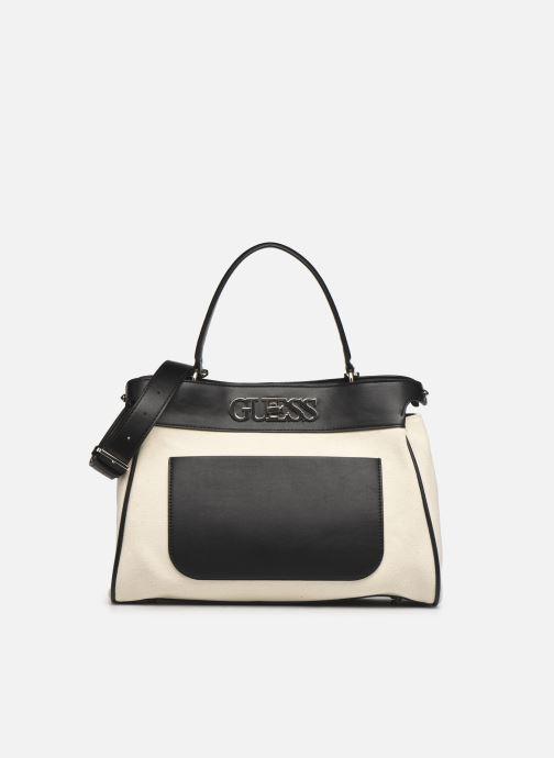 Handtaschen Guess UPTOWN CHIC LRG TRNLCK SATCHEL schwarz detaillierte ansicht/modell