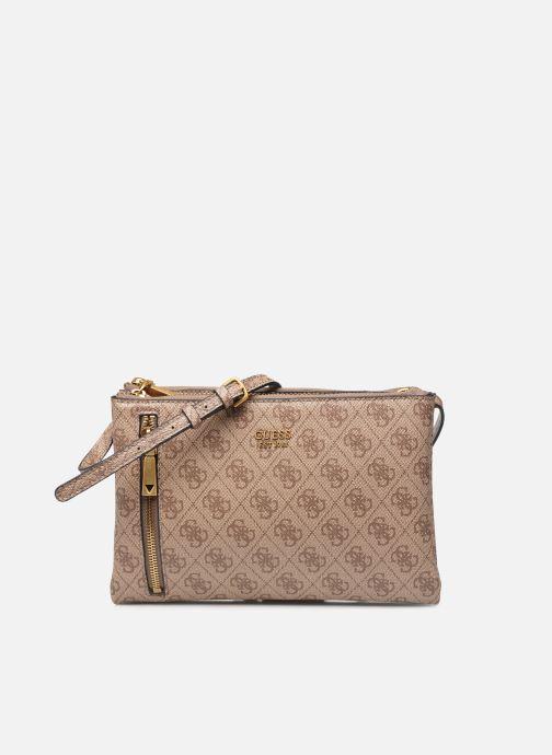 Handtaschen Guess NAYA DOUBLE ZIP CROSSBODY braun detaillierte ansicht/modell