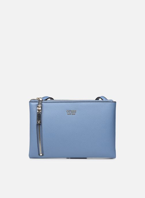 Handtaschen Guess NAYA DOUBLE ZIP CROSSBODY blau detaillierte ansicht/modell