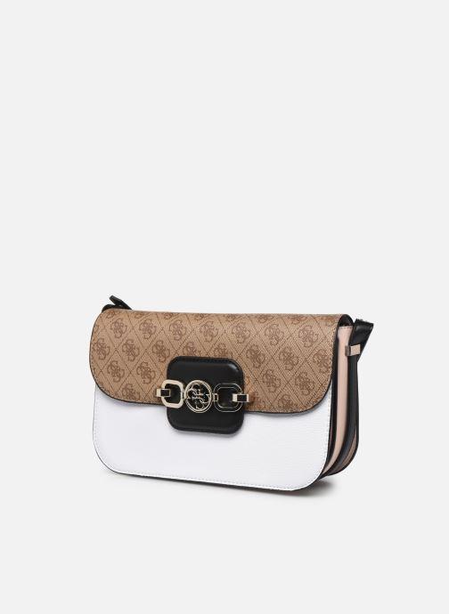 Handtaschen Guess HENSELY CNVRTBLE SHOULDER BAG weiß schuhe getragen