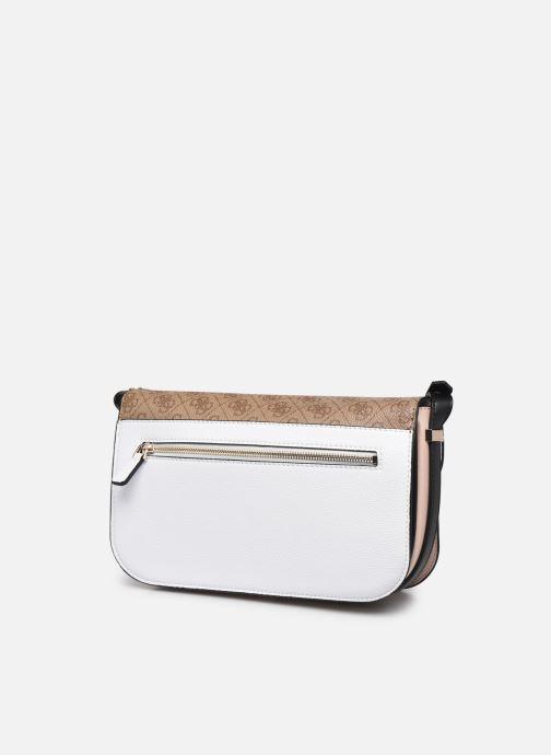 Handtaschen Guess HENSELY CNVRTBLE SHOULDER BAG weiß ansicht von rechts