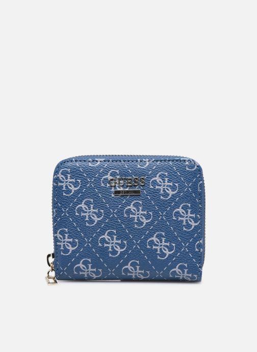 Portemonnaies & Clutches Guess TYREN SLG SMALL ZIP AROUND blau detaillierte ansicht/modell