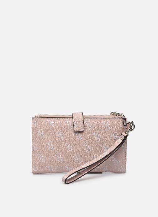Pelletteria Guess TYREN SG DOUBLE ZIP  ORGANIZER Rosa immagine frontale