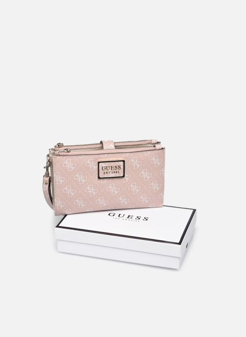 Pelletteria Guess TYREN SG DOUBLE ZIP  ORGANIZER Rosa immagine sinistra
