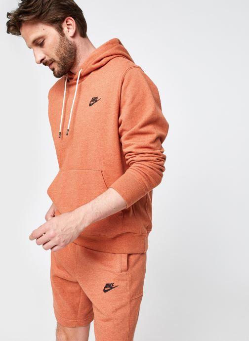 Ropa Nike M Nsw  Po Sb Hoodie Revival Naranja vista de detalle / par