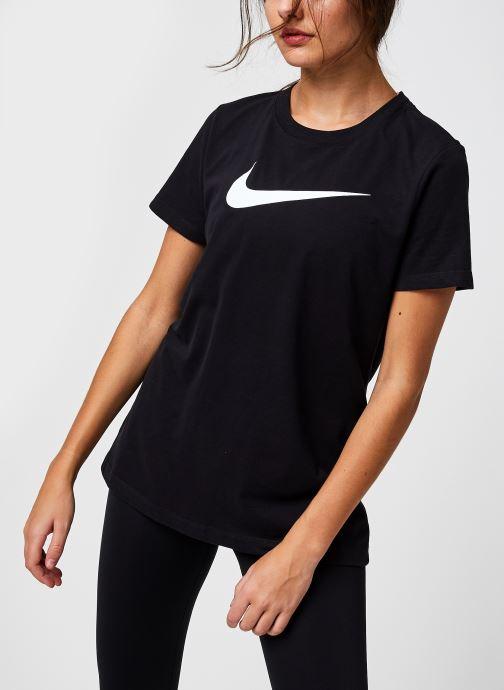 Vêtements Nike W Nk Df Tee Dfc Crew Noir vue détail/paire