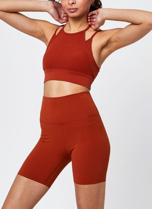 Vêtements Nike W Ny Df Indy Strpy Lngln Bra Orange vue détail/paire