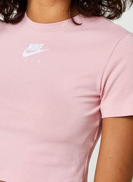 Vêtements Nike W Nsw Air Ss Top Crop Rose vue face