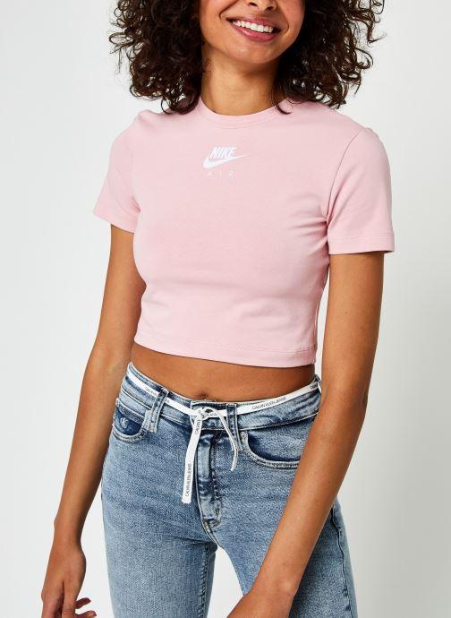 Vêtements Nike W Nsw Air Ss Top Crop Rose vue droite