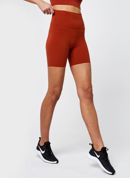 Vêtements Nike The Nk Yoga Luxe 7In Short Orange vue détail/paire