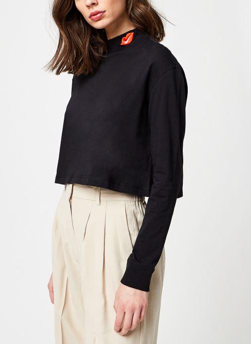 Vêtements Nike W Nsw Tee Ls Mock Love Noir vue détail/paire