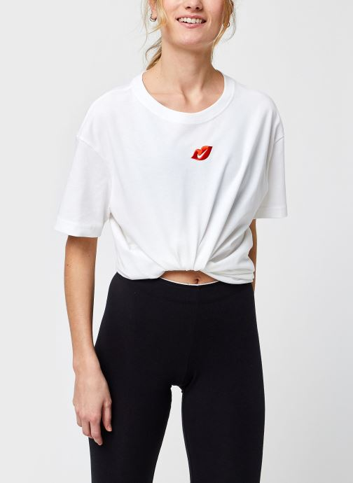 Vêtements Nike W Nsw Tee Boy Love Blanc vue détail/paire