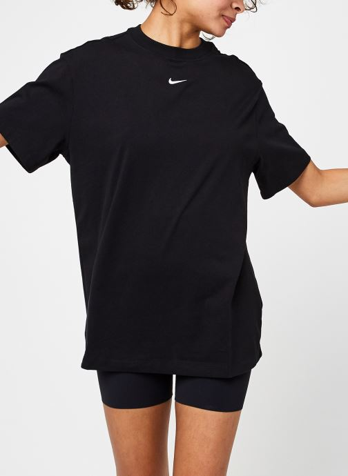 Kleding Nike W Nsw Essntl Ss Top Bf Zwart detail