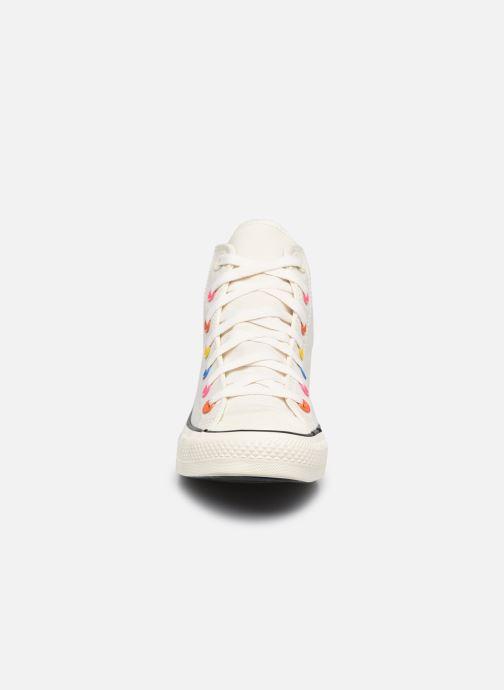 Sneaker Converse Chuck Taylor All Star My Story Hi beige schuhe getragen