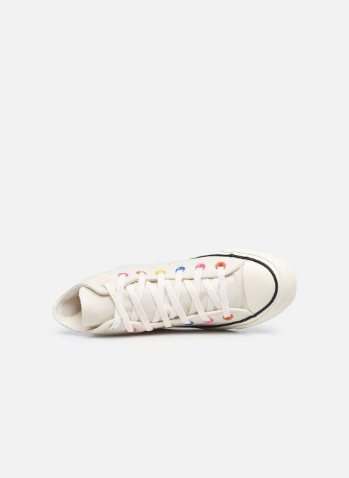Sneaker Converse Chuck Taylor All Star My Story Hi beige ansicht von links