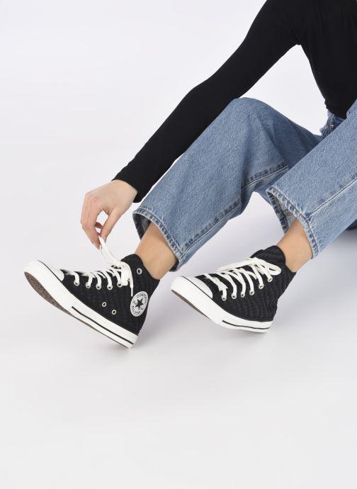 Sneakers Converse Chuck Taylor All Star Tonal Weaving Hi Nero immagine dal basso