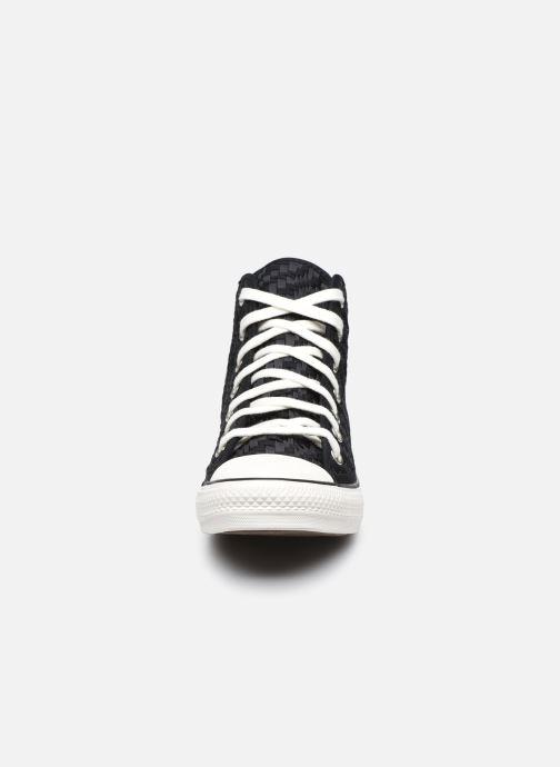 Sneakers Converse Chuck Taylor All Star Tonal Weaving Hi Nero modello indossato