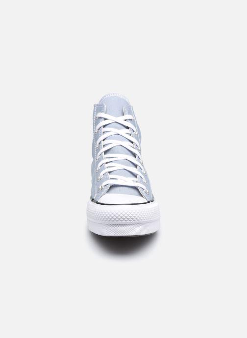 Baskets Converse Chuck Taylor All Star Lift Seasonal Color Hi Gris vue portées chaussures