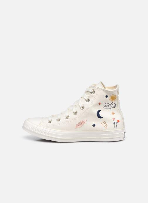 Sneaker Converse Chuck Taylor All Star It's OK To Wander Hi weiß ansicht von vorne