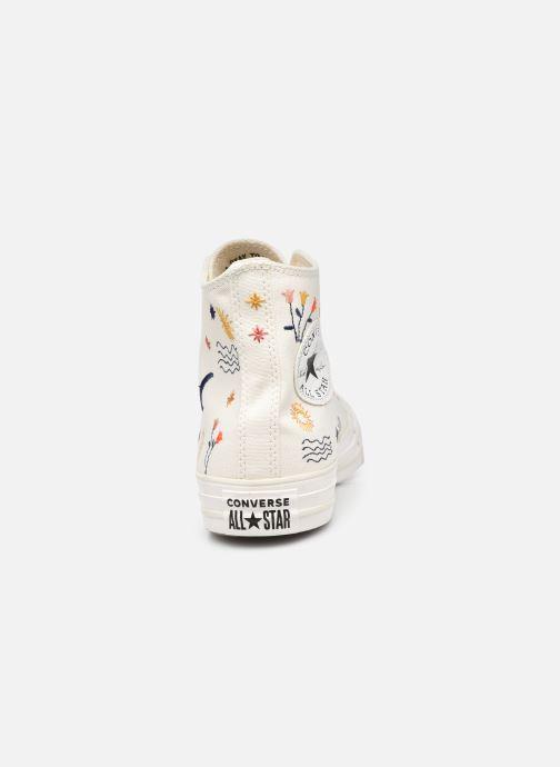 Sneaker Converse Chuck Taylor All Star It's OK To Wander Hi weiß ansicht von rechts