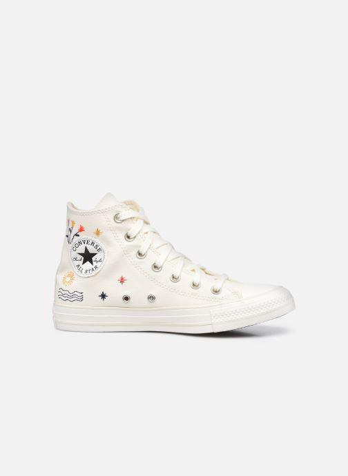 Sneaker Converse Chuck Taylor All Star It's OK To Wander Hi weiß ansicht von hinten