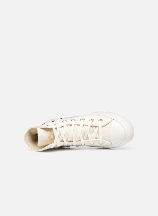 Sneaker Converse Chuck Taylor All Star It's OK To Wander Hi weiß ansicht von links
