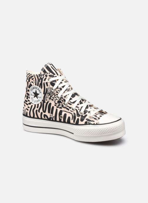 Sneaker Converse Chuck Taylor All Star Lift Jungle Art Hi schwarz detaillierte ansicht/modell