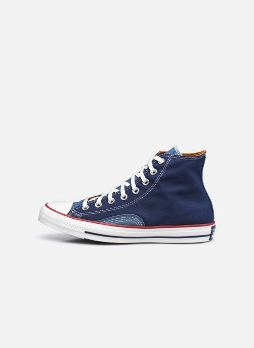 Sneakers Converse Chuck Taylor All Star Indigo Boro Hi Azzurro immagine frontale