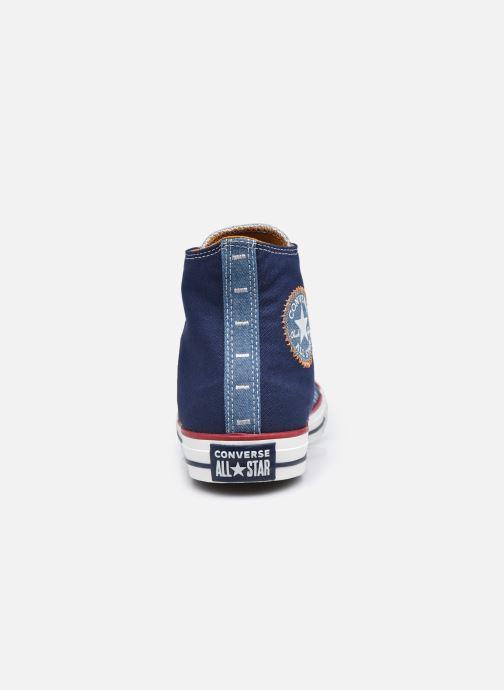 Sneakers Converse Chuck Taylor All Star Indigo Boro Hi Azzurro immagine destra