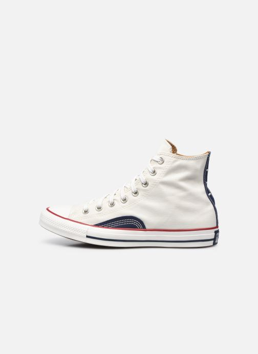 Sneakers Converse Chuck Taylor All Star Indigo Boro Hi Bianco immagine frontale