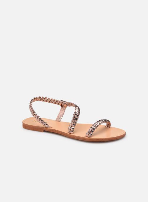 Sandales et nu-pieds Jonak WOODY Or et bronze vue détail/paire