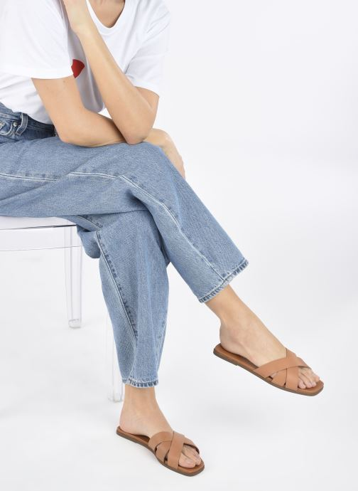 Clogs & Pantoletten Jonak WALDO braun ansicht von unten / tasche getragen