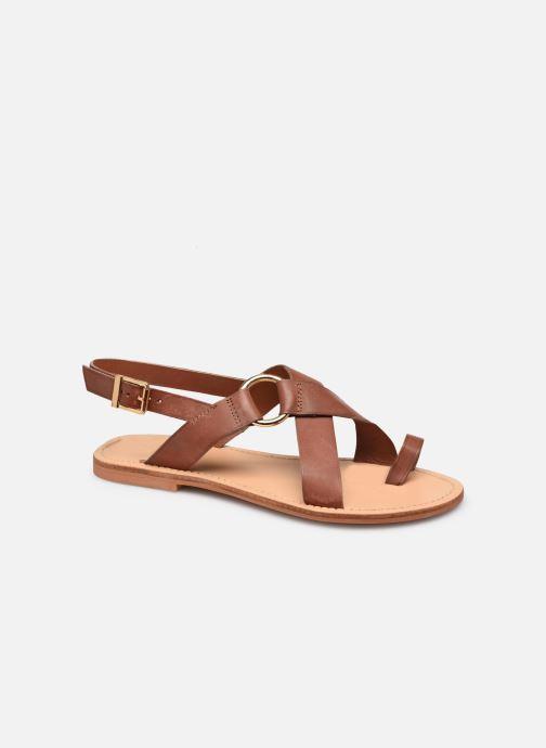 Sandales et nu-pieds Jonak WARHOL Marron vue détail/paire