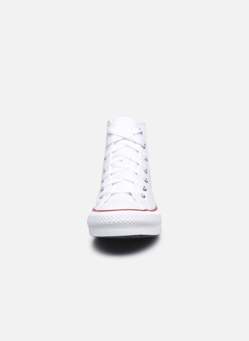 Deportivas Converse Chuck Taylor All Star EVA Lift Canvas Color Hi Blanco vista del modelo