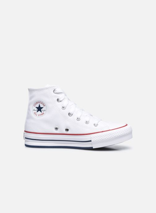 Deportivas Converse Chuck Taylor All Star EVA Lift Canvas Color Hi Blanco vistra trasera