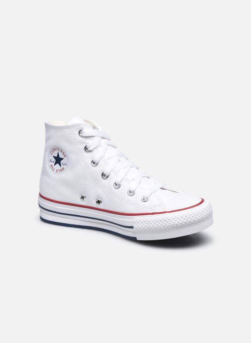 Deportivas Converse Chuck Taylor All Star EVA Lift Canvas Color Hi Blanco vista de detalle / par