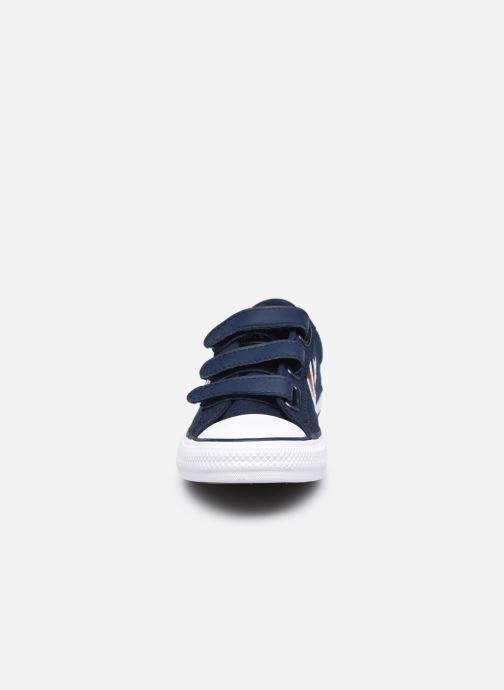 Sneakers Converse Star Player 3V Textile Distort Ox Azzurro modello indossato