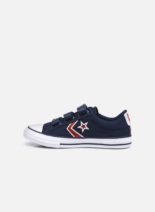 Sneaker Converse Star Player 3V Textile Distort Ox blau ansicht von vorne