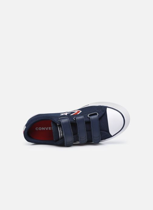 Sneaker Converse Star Player 3V Textile Distort Ox blau ansicht von links