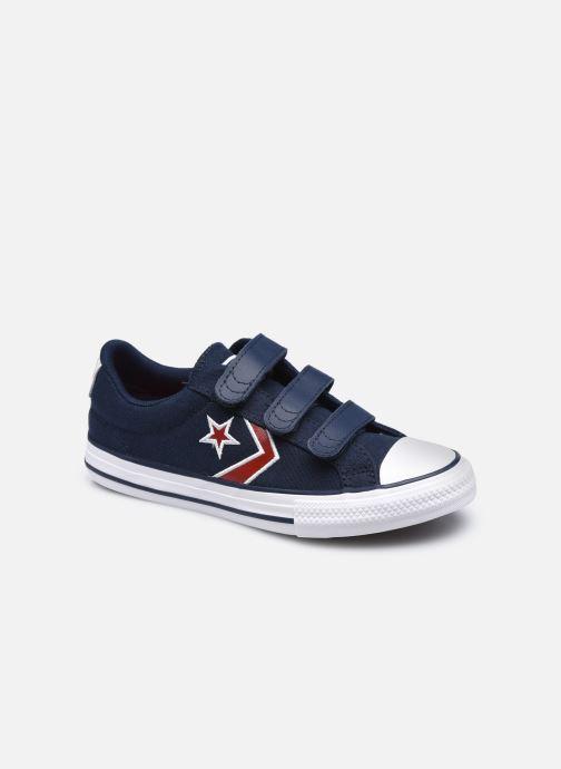 Sneaker Converse Star Player 3V Textile Distort Ox blau detaillierte ansicht/modell
