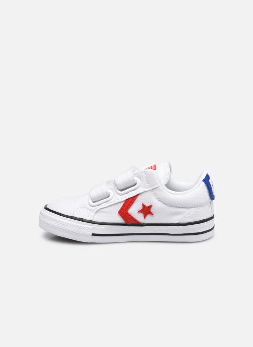 Sneakers Converse Star Player 2V Varsity Canvas Ox Bianco immagine frontale
