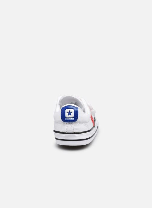 Sneakers Converse Star Player 2V Varsity Canvas Ox Bianco immagine destra