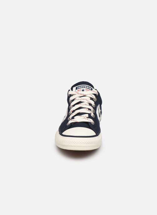 Sneaker Converse Star Player EV Americana Ox blau schuhe getragen