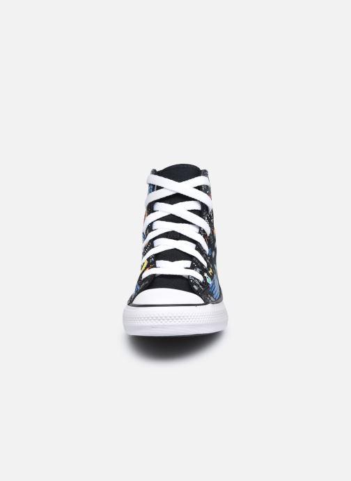 Baskets Converse Chuck Taylor All Star Boys Gamer Hi Noir vue portées chaussures