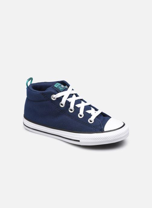 Baskets Converse Chuck Taylor All Star Street Canvas Color Mid Bleu vue détail/paire