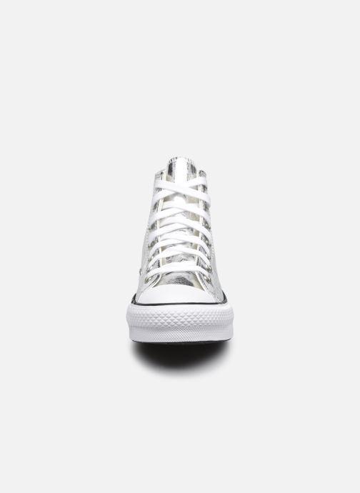 Baskets Converse Chuck Taylor All Star EVA Lift Glitter Shine Hi Argent vue portées chaussures